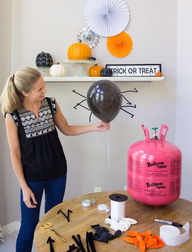 How to make spider balloons