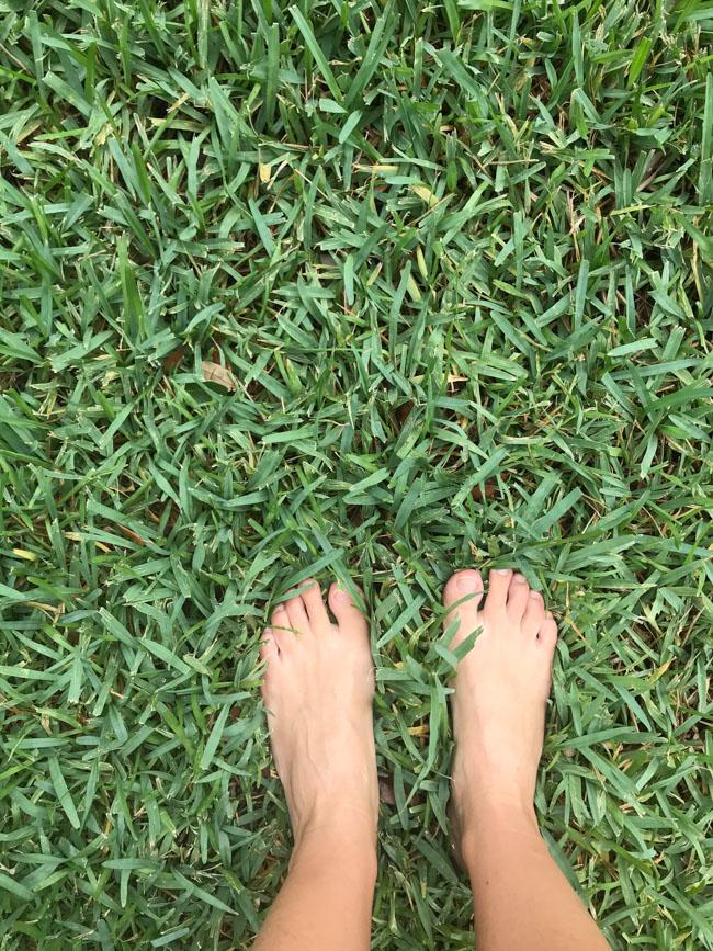 Barefoot backyard escape