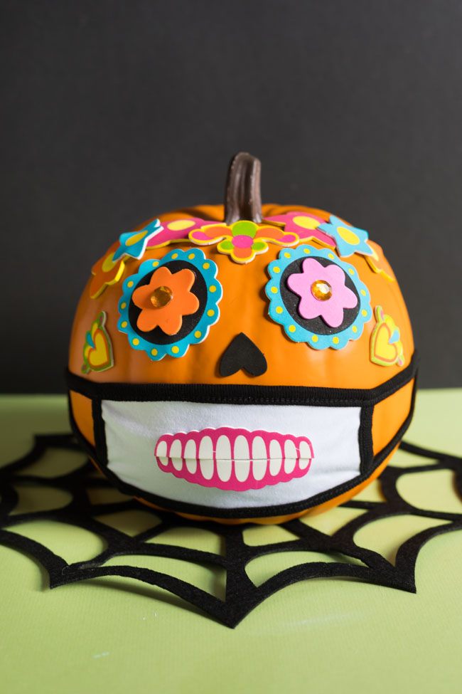 Day of the Dead face mask pumpkin