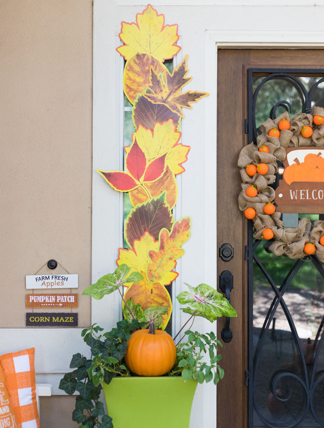 Giant Fall Leaves Front Porch Decor