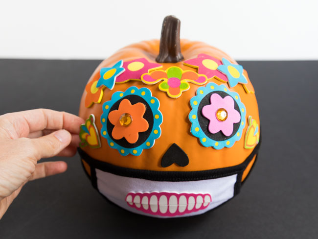 Day of the Dead face mask pumpkin Halloween 2020