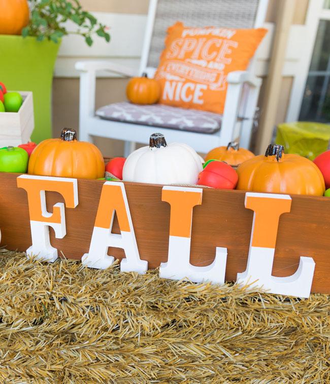 DIY Wood Box with Fall Sign