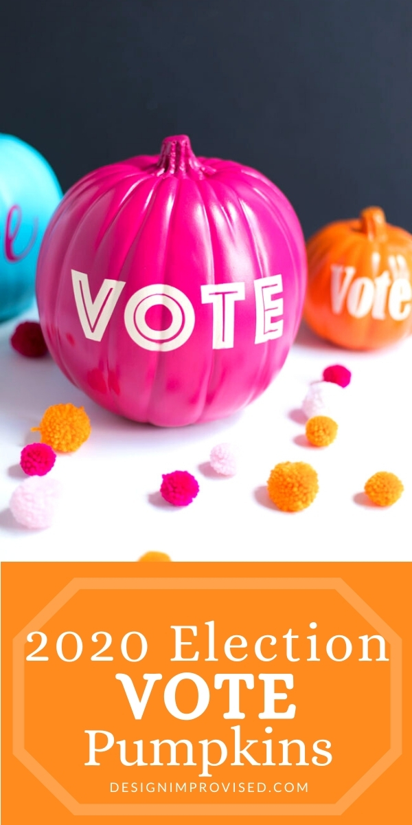 Make vote pumpkins for the 2020 election