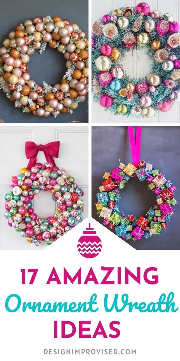 DIY Christmas Ornament Wreath Ideas