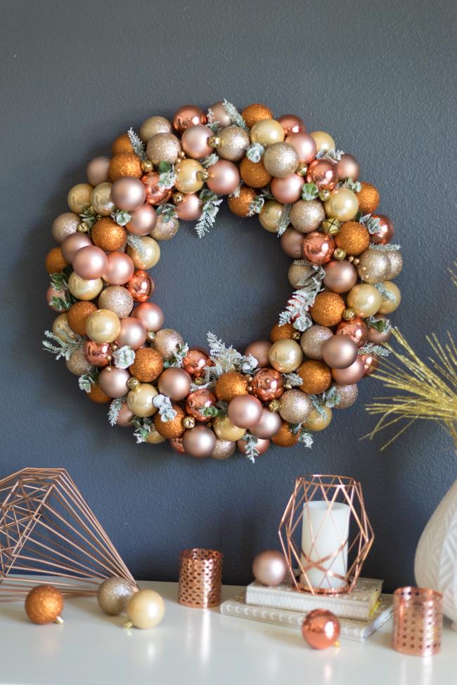 DIY Ornament Wreath Styrofoam