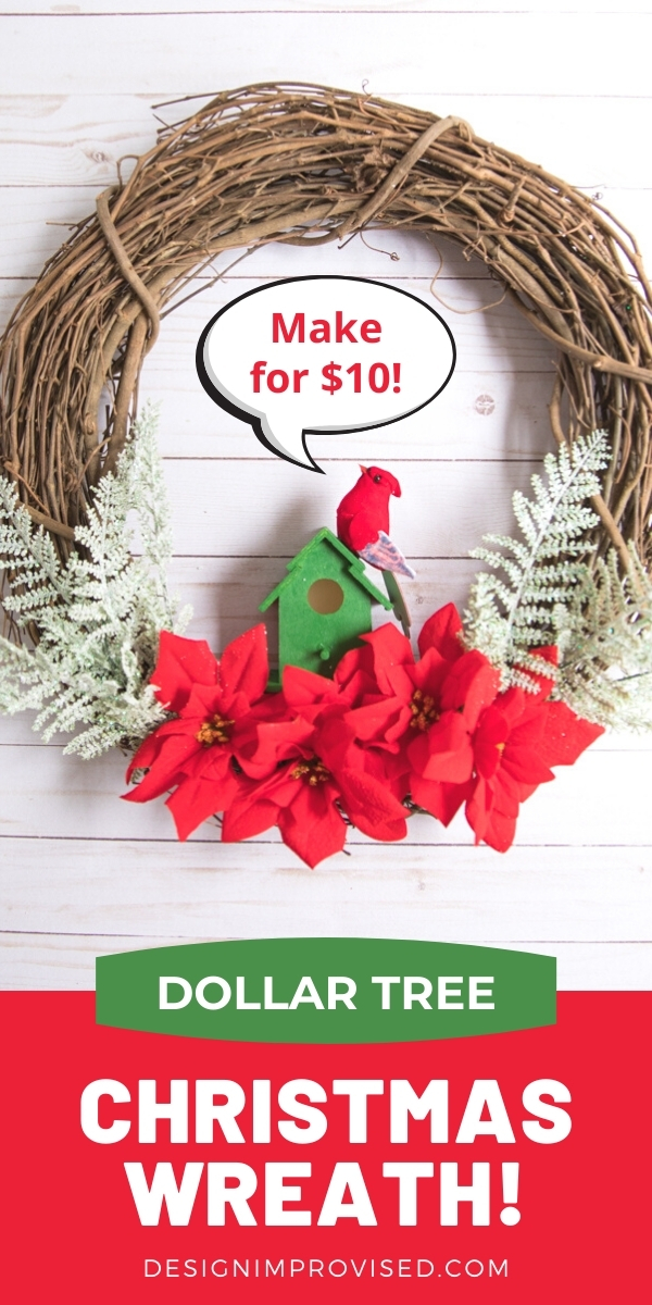 Dollar Tree Christmas Wreath for Under $10