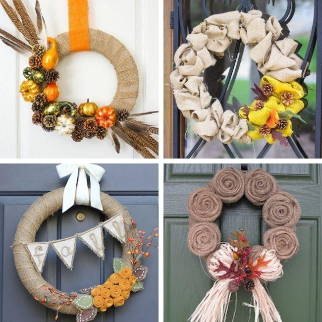 Fall Burlap Wreath Ideas