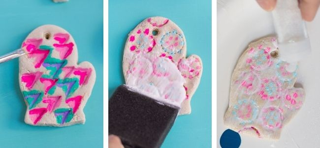 How to make glitter salt dough ornaments