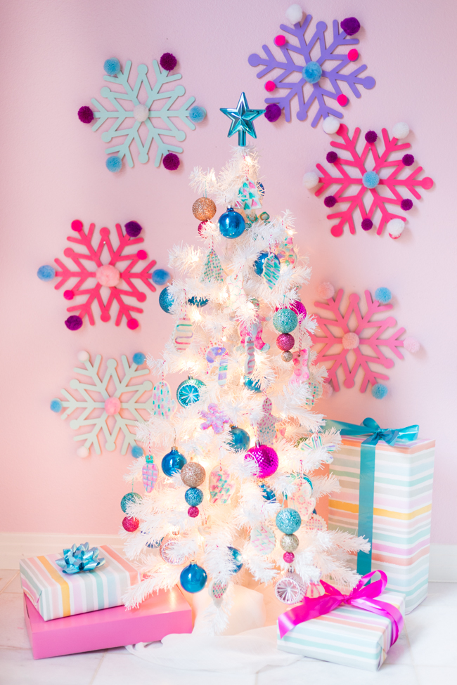 Christmas Tree with Salt Dough Ornaments