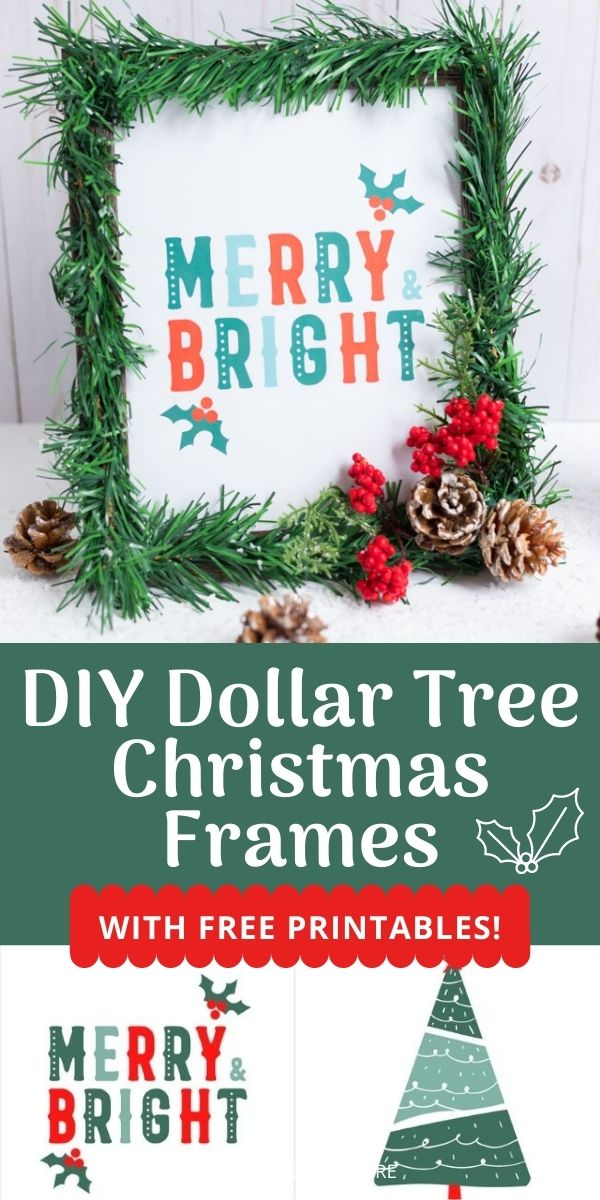 Diy Christmas Picture Frames With Free Printables Design Improvised