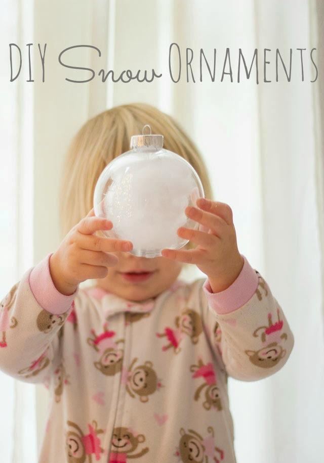 Kids Snow Ornament