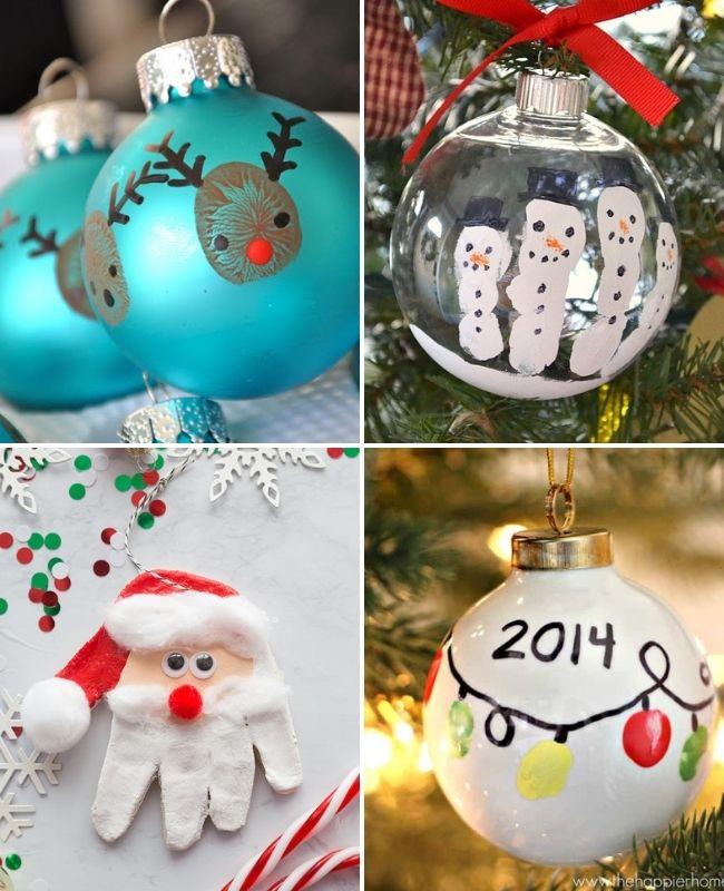 Fingerprint Christmas ornament ideas