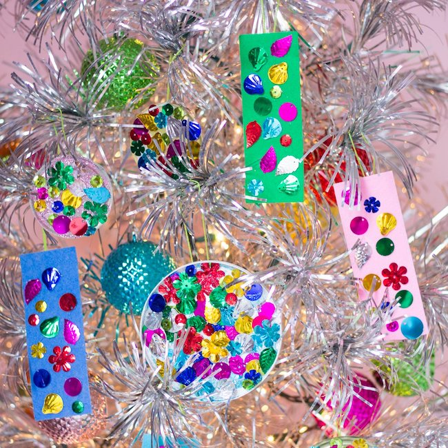 Kids recycled ornament idea