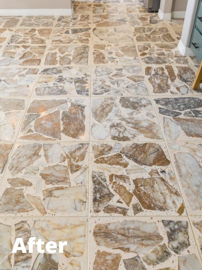 Stone tile cleaning after