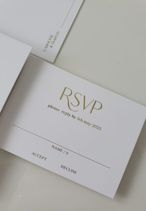 modern elegant wedding guest rsvp card