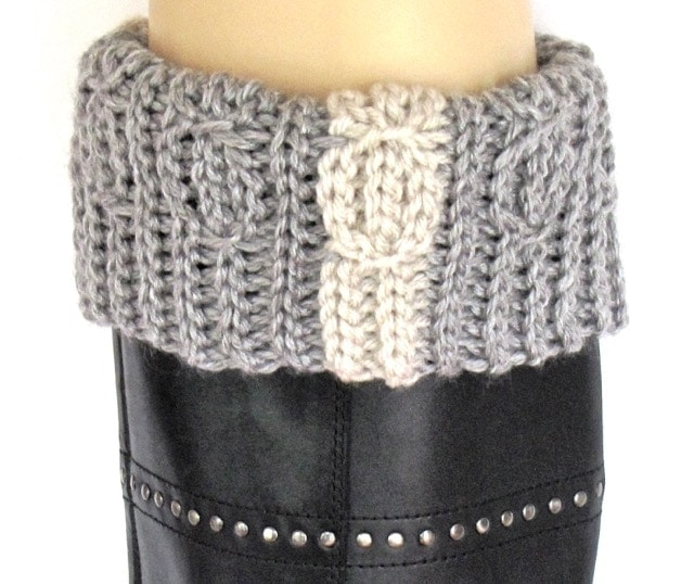 Lucky Twist Bootslip folded over boot top