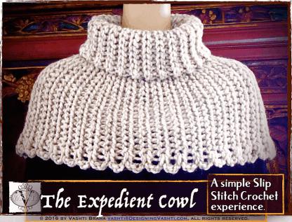 Beginner slip stitch crochet with a big hook!