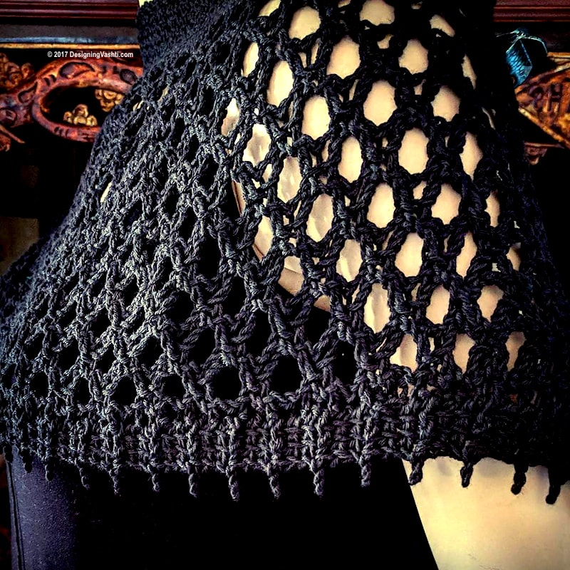 New Tunisian Crochet Mesh Design in Progress