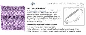 Screenshot of the skill level details for Vashti's Lovelace pattern.