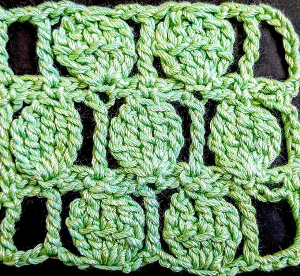 """My simple """"crochet two rows at once"""" pattern variation"""