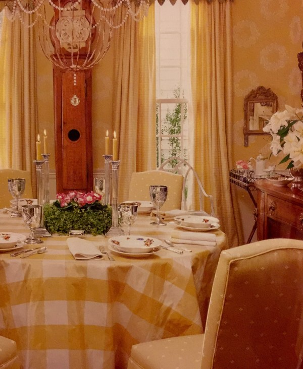 Dining room with table and upholstered chairs