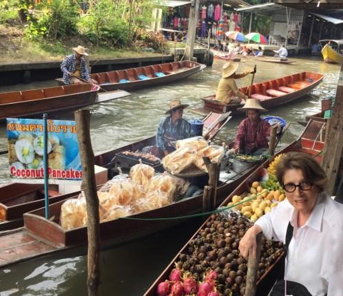 Damnoen Saduak floating market outside of Bangkok Thailand