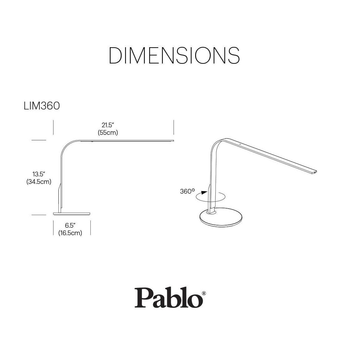 Pablo Designs Lim360 Desk Lamp Brass