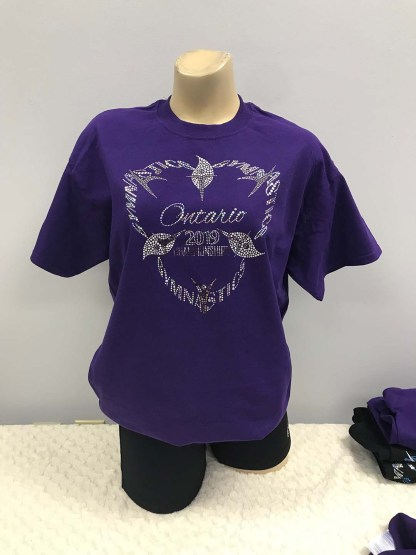 Purple T-Shirt with Silver Sequin