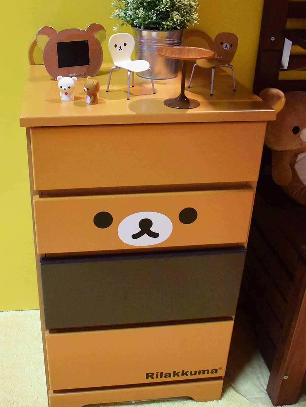 rilakkuma furniture at the Licensing Expo