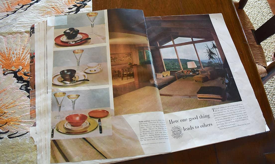 House Beautiful dinnerware ad