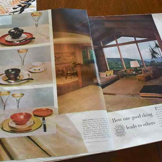 House Beautiful dinnerware ad