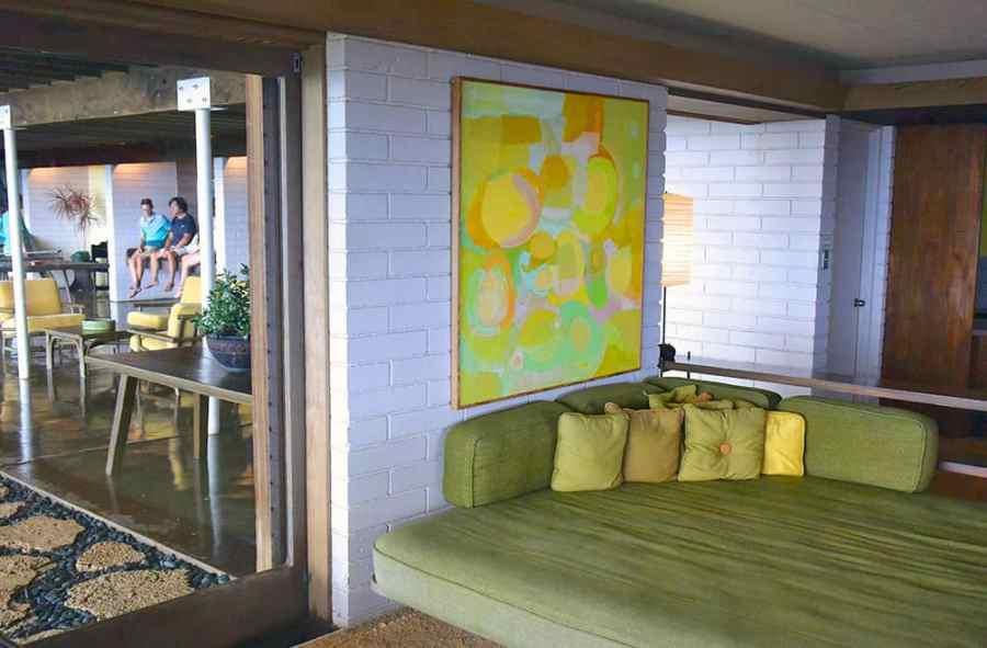 Indoor outdoor rec room in the Liljestrand House