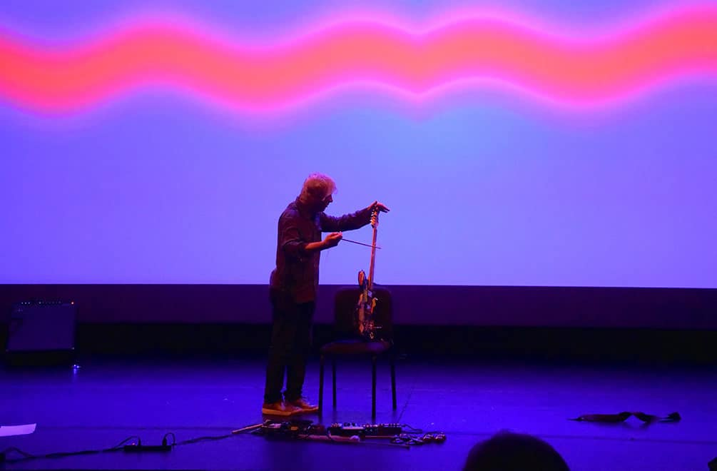 Lee Ranaldo playing at the Getty