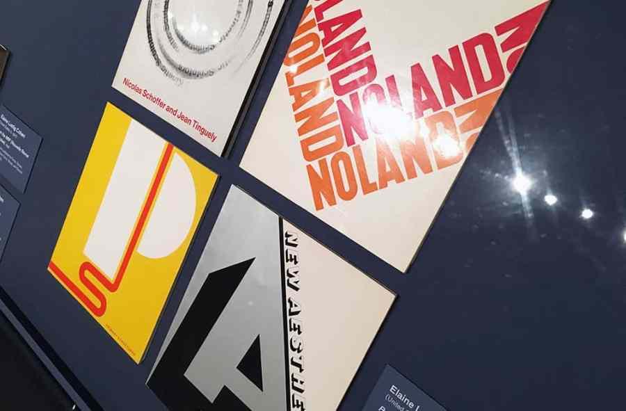 Elaine Lustig catalogs under glass