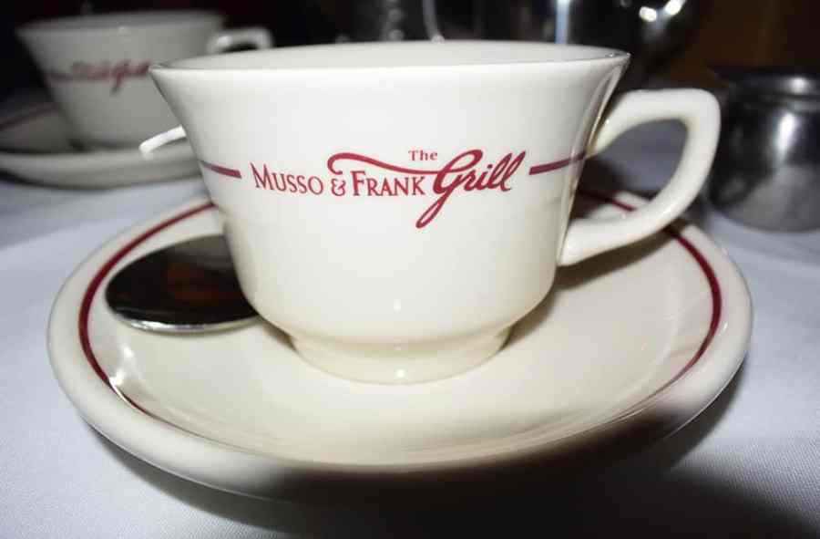 Musso & Frank Grill coffee cup
