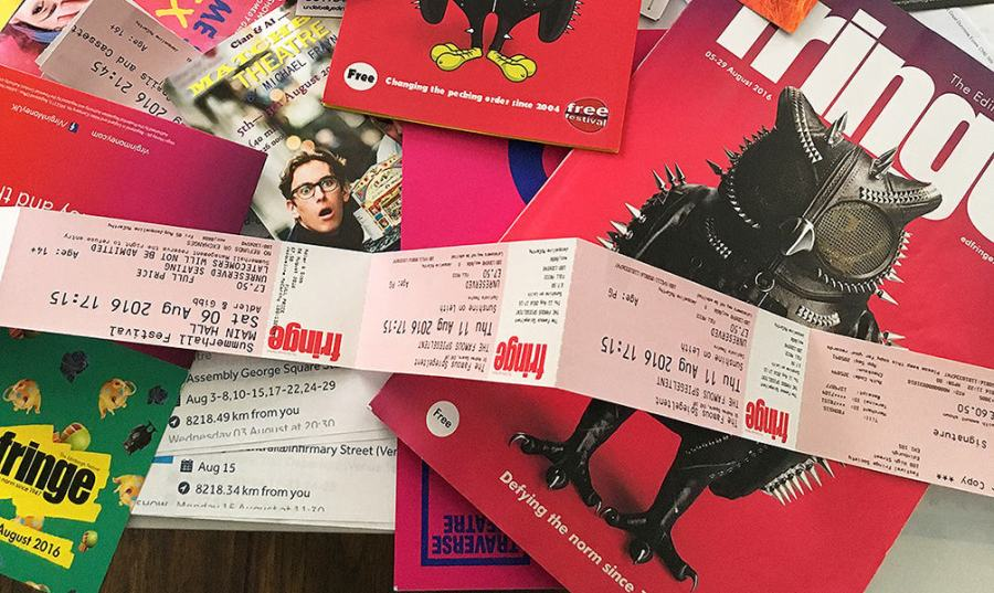Edinburgh Fringe Festival Program and flyers