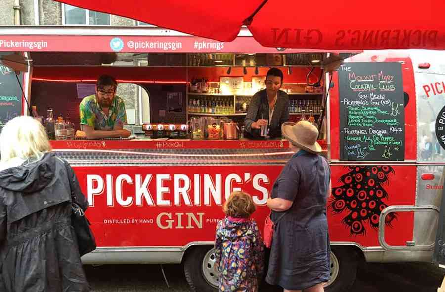 Pickering Gin Truck at the Edinburgh Fringe Festival