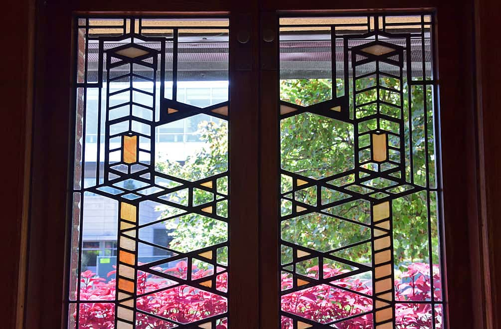 Robie House Stained Glass by Frank Lloyd Wright