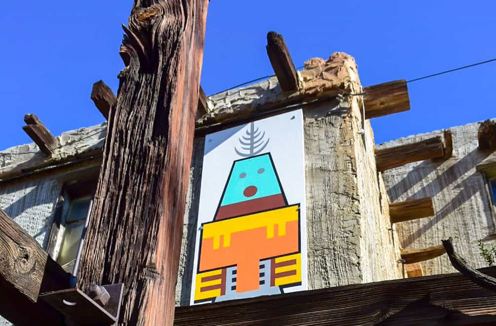 Cabot Museum with Kachina painting on the side