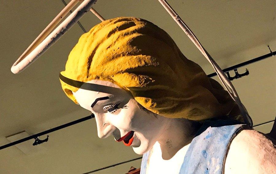 The Blue Angel sign in Las Vegas, side head shot