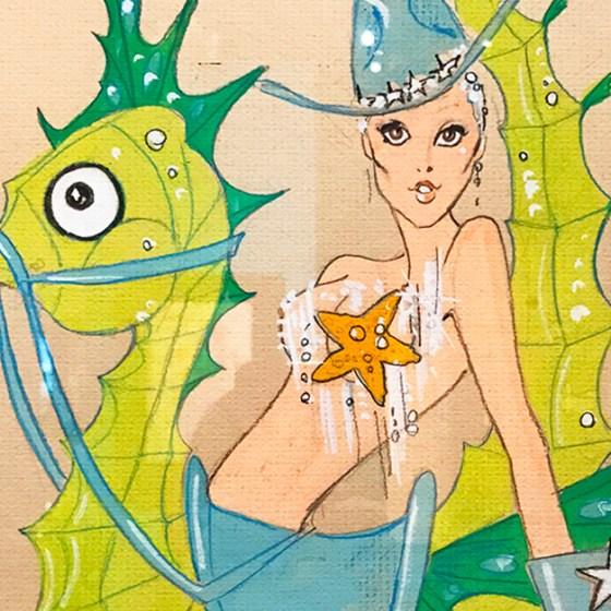 Seahorse costume for Splash designed by Pete Menefee