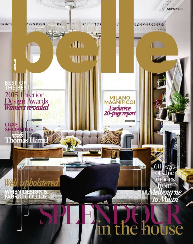 Interior design magazines belle june july 2015 for Interior design mag