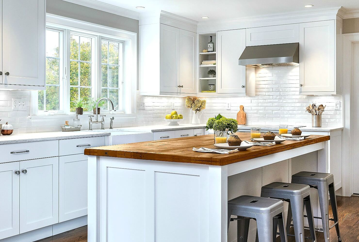 White Cabinets Are The Most Popular Cabinet Option Today, And Itu0027s No  Surprise Why. White Adds A Sense Of Airiness To Both Large And Small  Kitchens, ...