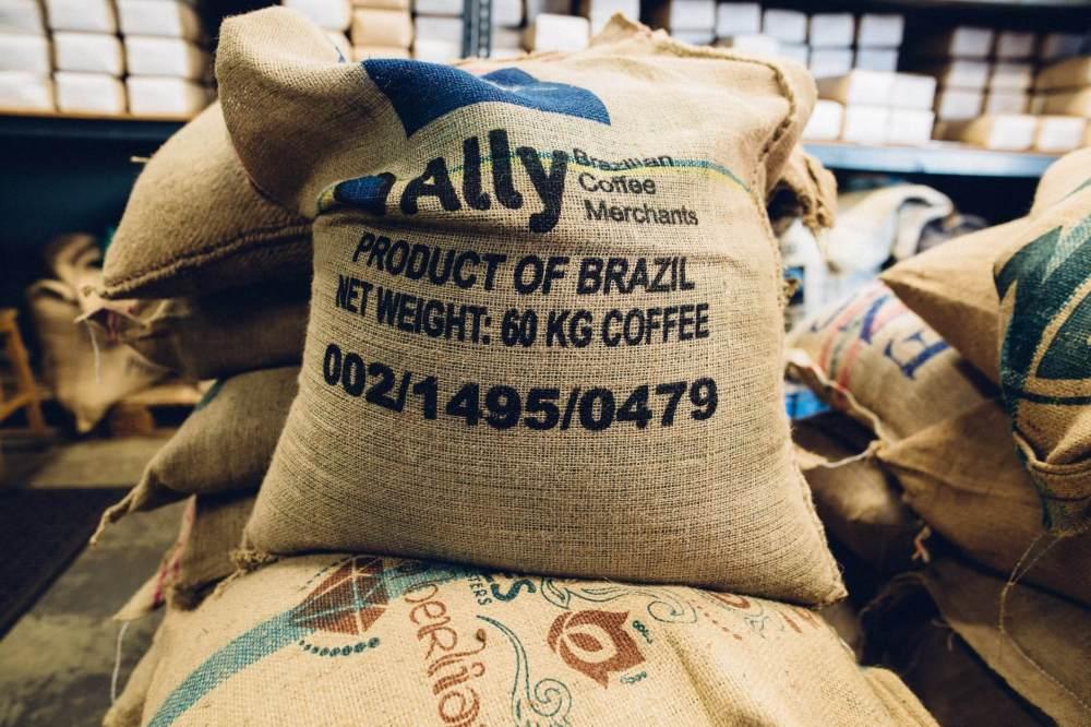 sacks of coffee beans
