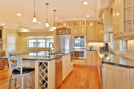 Natural Stained Wood Kitchen Toms River New Jersey By