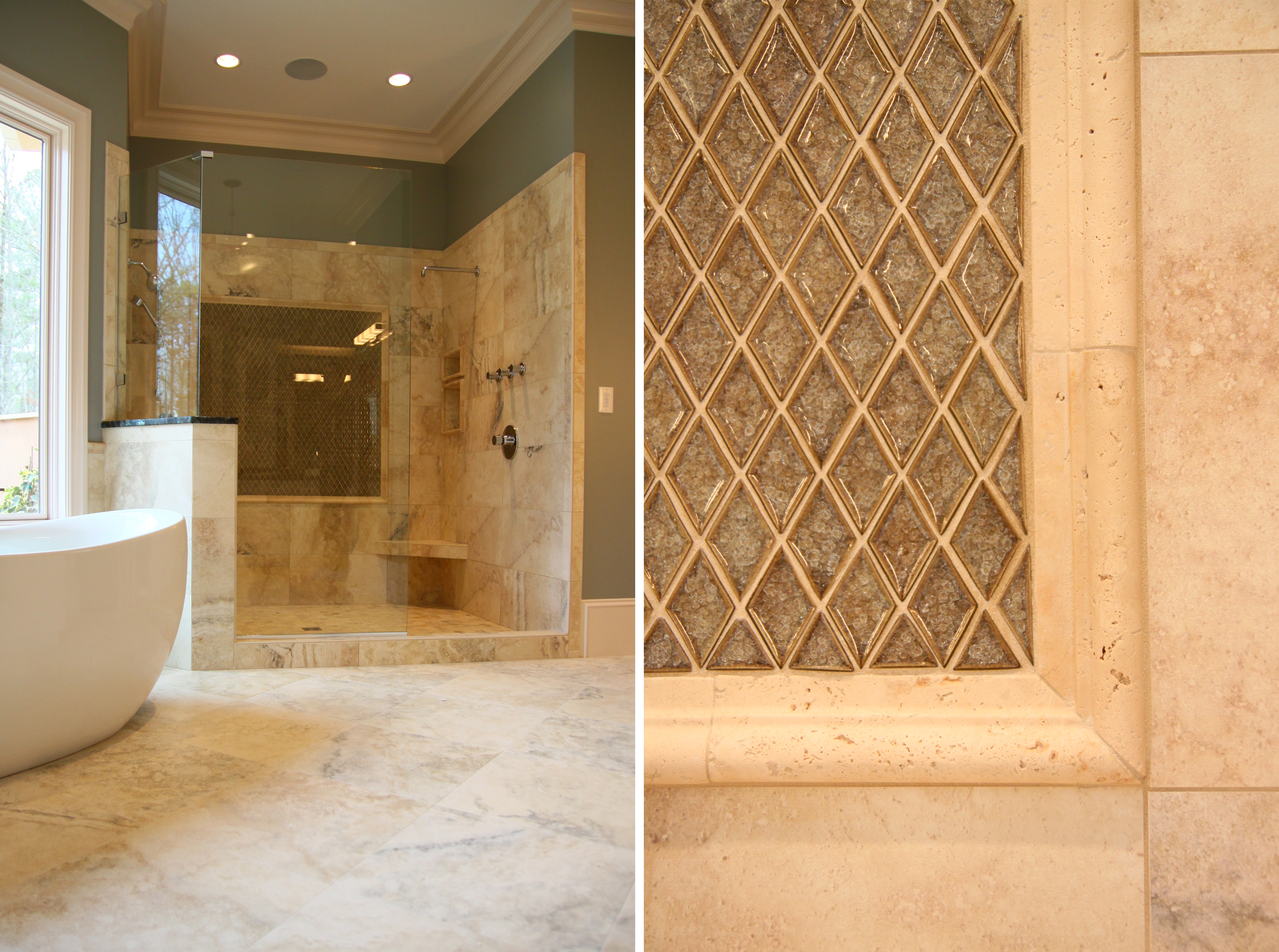 Tile Shower Without Doors Master Bathroom Designs A Tub Hypnotic