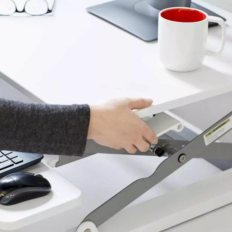 Black Medium Peak Adjustable Height Standing Desk Riser 1