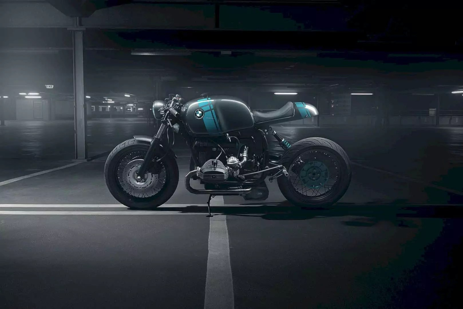 "BMW R80 Monolever ""Project 4"" by Elemental Custom Cycles - Clean Minimalist Cafe Racer"