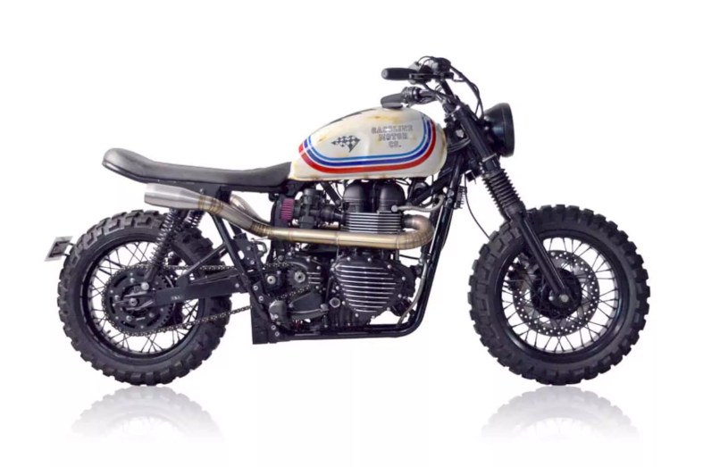 Gasoline Motor Co X Sailor Jerry Triumph Scrambler 6