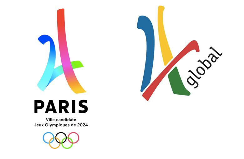 οι δύο λογότυποι δίπλα-δίπλα